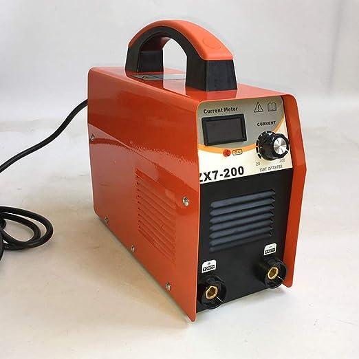200Amp Portable IGBT MMA/ARC/Stick DC Inverter Soldador Pantalla Digital LCD Máquina De Soldadura Eléctrica Manual Herramientas De Trabajo Kit: Amazon.es: ...