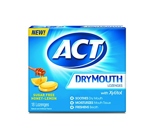 Act Dry Mouth Lozenges, Honey Lemon, Sugar Free, 18 Count (Pack of (Drops Sugar Free Honey)