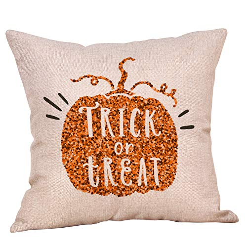 WFeieig_Halloween Soft Cozy Velvet Throw Pillow Solid Square Cushion Cover Black