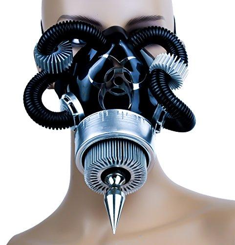 [Aluminum Turbine Cosplay Mask Spike Bio Hazard Costume] (Biohazard Costumes)
