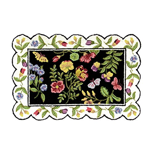 C&F Home Blair Floral Hooked Rug, 2' x 3' , Black