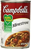 Each heart-healthy spoonful of Campbell's Condensed Healthy Request Minestrone Soup brims with a bounty of farm-grown veggies—from carrots, potatoes, green beans, peas, tomatoes, zucchini and more!—blended with hearty kidney and navy beans an...