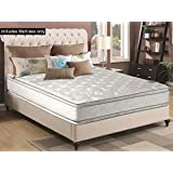 Greaton Medium 12-Inch Innerspring Double Sided Pillow Top Mattress No Assembly Required, Not Standard 74x48, Size