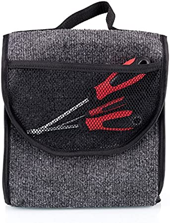 Kofferraumtasche Mit Klett Haftet An Kofferraum Organizer Werkzeugtasche 26 X 16 X 26 Cm 014 Auto