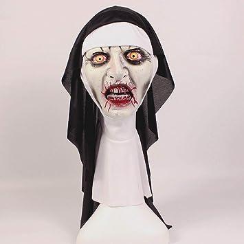 Máscara De Monja Halloween Horror Maquillaje Máscara Tricky Mueca Miedo Scary Latex Headgear