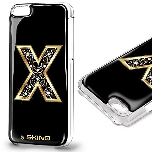 Skino™ Custodia Skin 3D Anti-Gravità Case Cover Resina Gel per iPhone 5 / 5s / 5 SE / 6/6 Plus / 6s / 6s Plus / 7/7 Plus Anti-Scratch Protezione 100% UV Antiscivolo Letter Gold Lettera Doro X (iPhone