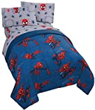 Jay Franco Marvel Spiderman Spidey Crawl 4 Piece Twin Bed Set - Includes Reversible Comforter & Sheet Set - Super Soft Fade Resistant Polyester - (Official Marvel Product)
