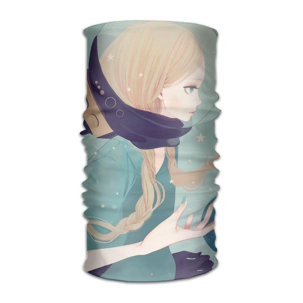 Magic Headwear Space Girl Illustrator Outdoor Scarf Headbands Bandana Mask Neck Gaiter Head Wrap Mask Sweatband