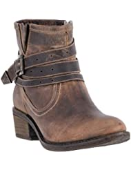 Dingo Womens Bay Ridge Strap Bootie