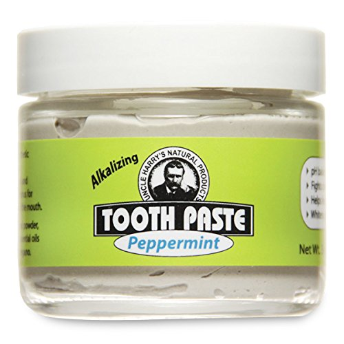 Uncle Harry's Fluoride Free Toothpaste – Peppermint (3 oz glass jar)