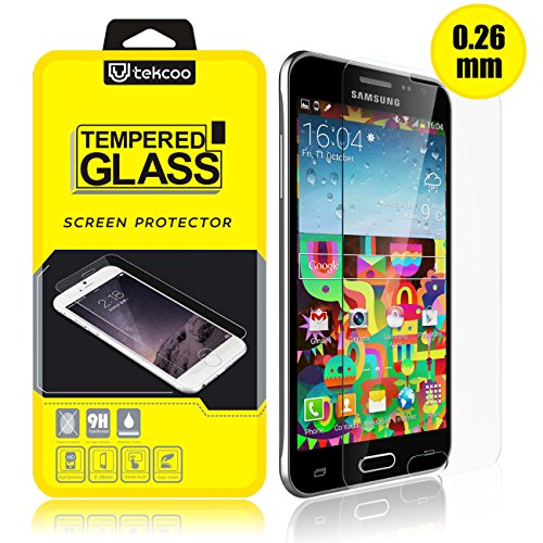 Galaxy Sky/ J3/ J3 V/Galaxy Sol/Galaxy Amp Prime Screen Protector, [Tempered Glass] 9H Hardness Anti-Scratch Premium Real Glass Screen Protector for Galaxy Amp Prime/Express Prime