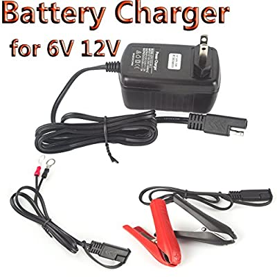 DODOING 6V/12V 1.5Amp Car Battery Charger Maintainer Auto Trickle Charging for Automotive Vehicle Motorcycle Lawn Mower Marine RV SLA ATV AGM Gel Cell Lead Acid Batteries