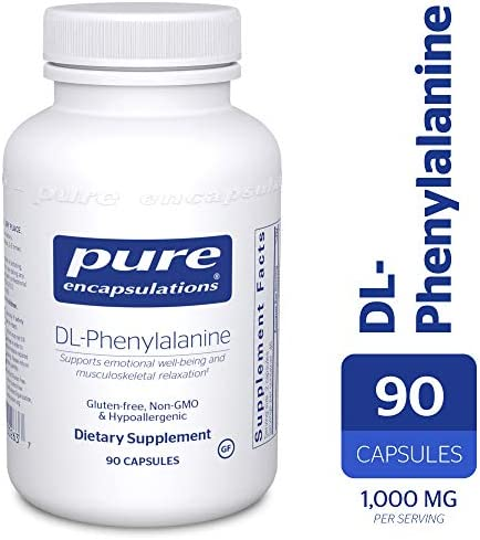 Pure Encapsulations – DL-Phenylalanine – Hypoallergenic Supplement to Support Mental Acuity and Emotional Well-Being* – 90 Capsules
