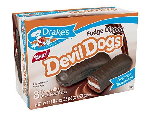 Drake's Fudge Dipped Devil Dogs, 12 Boxes, 8 ct per box by Drake's
