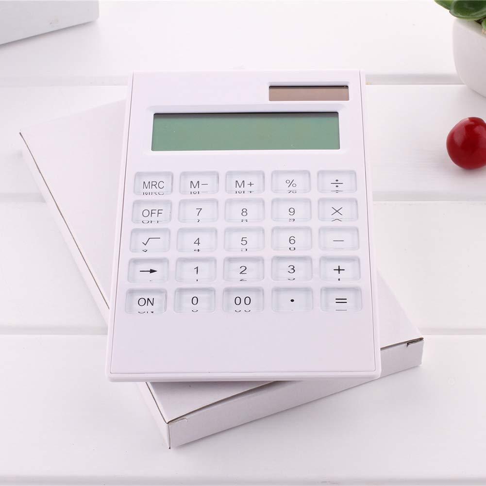 color blanco Calculadora cient/ífica port/átil de silicona para estudiante Kalaokei