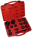 wheel bearing front tool - 15 Piece Wheel Bearing Puller - Removal and Installation Tool - 15pc Universal Front Wheel Drive Bearing Removal Adapter Puller Tool Kit Set - Front Wheel Hub Bearing Assembly Removal Tools