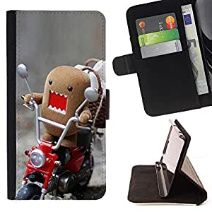For Samsung Galaxy Note 3 III Funny Domo Rawr Style PU Leather Case Wallet Flip Stand Flap Closure Cover