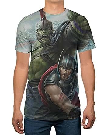 Marvel Thor and Hulk Thunder Strike Mens Sublimation T-shirt (XX-Large)
