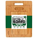 Cutting Boards for Kitchen [Bamboo, Set of