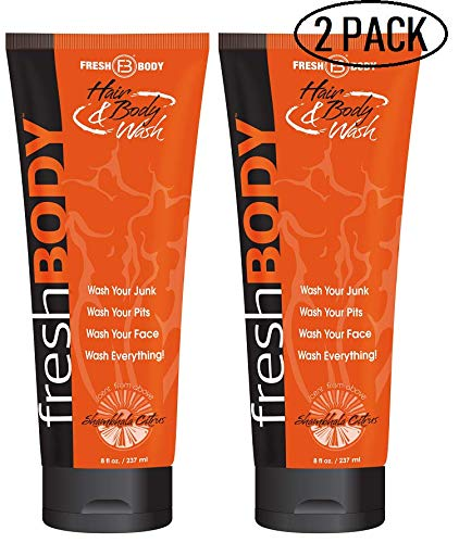 - FRESH BODY Hair & Body Wash 8 oz Bottle! All-in-One Wash Infused w/Detoxifying Charcoal and Odor Eliminating Copper for the FRESHEST Skin! (2 Pack)