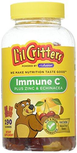 L'il Critters Immune C Plus Zinc & Echinacea Natural Flavors -- 190 Gummy Bears
