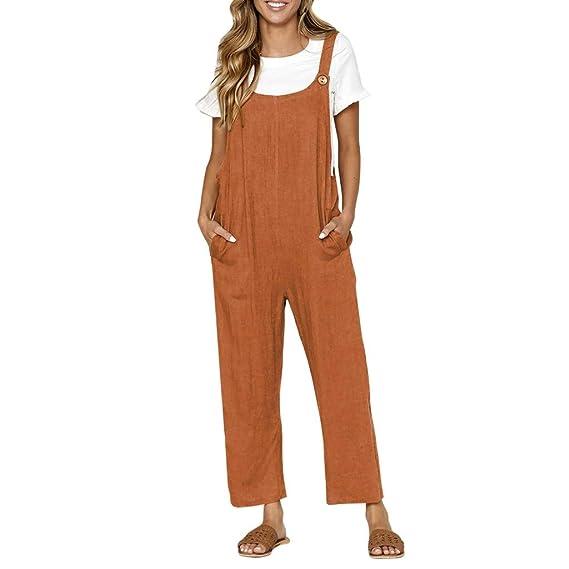 Luckycat Mono Mujer Corto Verano Casual Pantalones Ropa ...