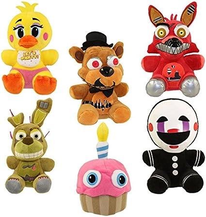 Koala Stuffed Animals Mini, Amazon Com Set Of 6 Funko Five Nights At Freddy S 6 Plush Figures Cupcake Toy Chica Spring Trap Freddy Foxy Marionette Toys Games
