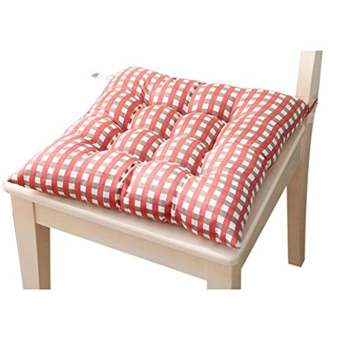 Tenworld Indoor Home Kitchen Office Seat Pads Chair Cushion 4040cm (Orange)
