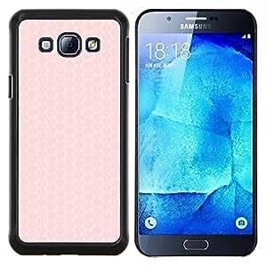 YiPhone /// Prima de resorte delgada de la cubierta del caso de Shell Armor - patrón de panal de durazno rosa pastel - Samsung Galaxy A8 A8000