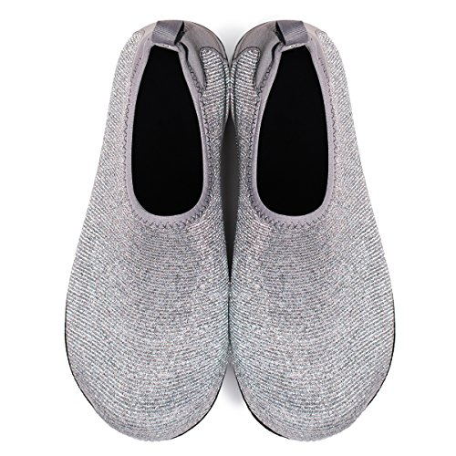 Sports Silver Quick Footware Yoga Aqua for Dive Pool JIASUQI Womens Men's Shoes Swim Sparkly Water Surf Dry Barefoot Beach YHEawUq
