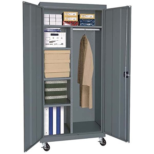 Sandusky Lee TACR362472-02 Transport Series Mobile Combination Storage Cabinet, Charcoal (Storage 36x24x72 Charcoal Cabinet)