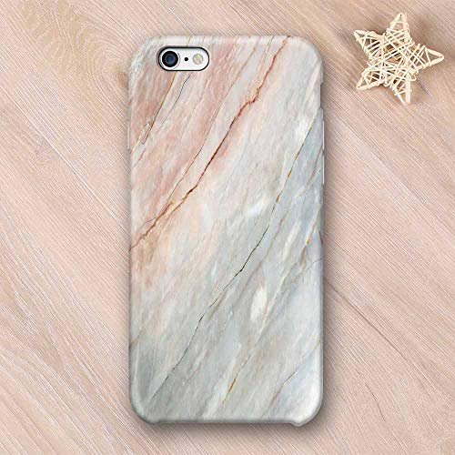 Marble No Odor Compatible with iPhone Case,Onyx Stone Textured Natural Featured Authentic Scratches Artful Illustration Decorative Compatible with iPhone 7/8 Plus,iPhone 6/6s ()