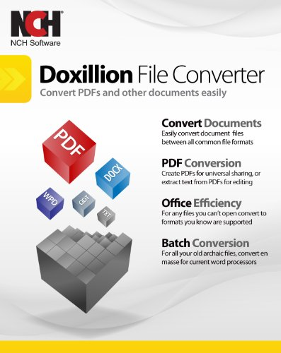 Doxillion Document Converter Software to Convert Many Document File Formats Easily [Download] by NCH Software