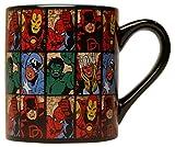 Silver Buffalo MV9132 Marvel Comics Grid Ceramic Mug, 14 oz, Multicolor