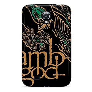 Shock-Absorbing Hard Phone Cover For Samsung Galaxy S4 (mWu18139bwZo) Provide Private Custom High-definition Metallica Skin