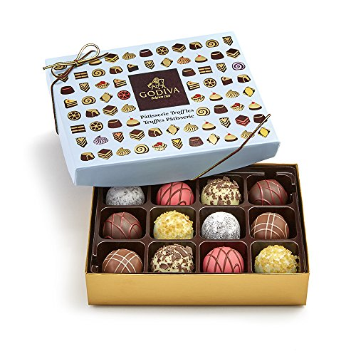 - Godiva Chocolatier 12 Piece Patisserie Chocolate Truffle Gift Box, Assorted Desserts, Great for Gifting