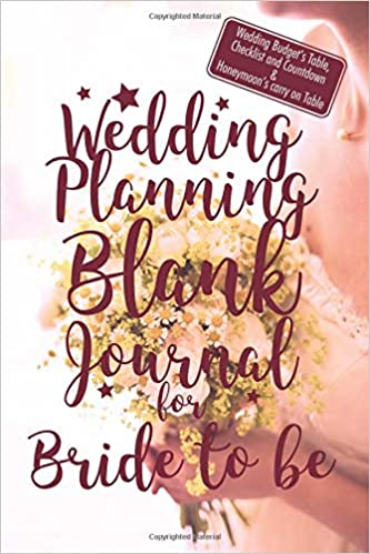 wedding planning blank journal for bride to be wedding budget