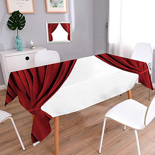 PINAFORE HOME Spillproof Fabric Tablecloth Dra ic red Old Fashioned Elegant Theater Stage Elements of swags to Make Your own Great for Buffet Table, Parties./W23 x L23 Inch