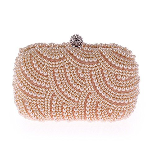Champagne Bag Bag Pearl Exquisite Evening Exquisite Bag Clutch Evening w8ntqR0H8