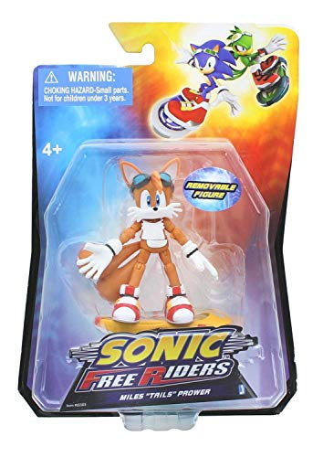 Sonic Free Riders-Miles Tails Prower Action Figure (Free Sonic Action Riders Figures)