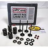 Kibblewhite Intake and Exhaust Valves and Spring Kit Honda TRX 450R 450ER 2006-2014 with Hot Cams HCSHIM02 9.48mm Complete Valve Shim Kit