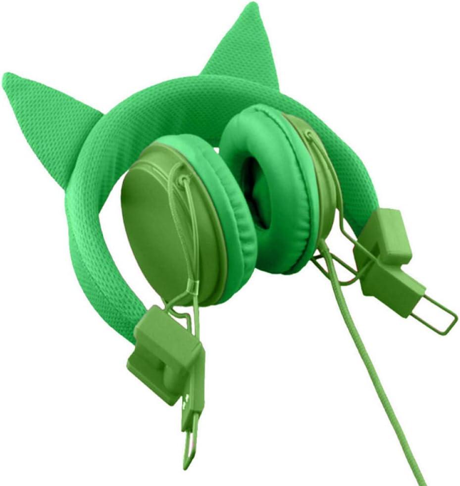 Auriculares Auriculares con Cable para computadora móvil, Orejas de Gato Personalizadas, Sonido cómodo y Perfectamente equilibrado, con micrófono: Amazon.es: Electrónica