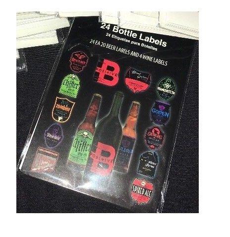 (24 Spooky Halloween Beer and Wine Bottle)