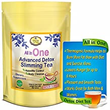 All in One Delicious Detox Tea. Fast Weight Loss Tea! Detox, Cleanse, Appetite Control. Highest Quality Kosher Certified BEST Detox Diet Tea