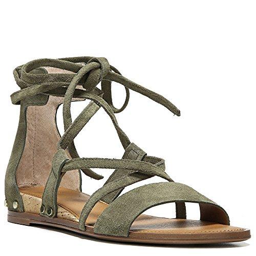 Sandalo Franco Sarto Cinturino Alla Caviglia Donna Sandali Lichene Verde Lux In Camoscio Spazzolato