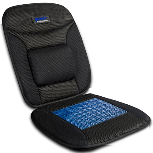 (Sojoy iGelComfort Coccyx Orthopedic Breathable Gel Luxury Support Non-Slip Seat Cushion (Black))