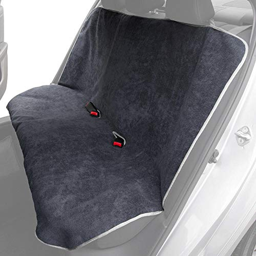 UltraFit Sweat Towel Bench Car Seat Cover for Yoga Running Crossfit Workout Athletes - Waterproof Machine Washable - Beach Swimming Outdoor Sports Auto Rear Seat Protector (Bench, Gray)
