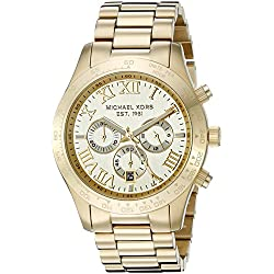 Michael Kors Men's Layton Gold-Tone Watch MK8214