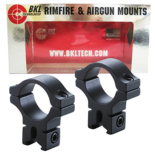 BKL 1 Rings, 3/8 or 11mm Dovetail, Matte Black