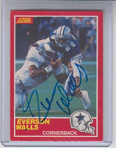 Everson Walls Autographed 1989 Score #171 Football Card Certified by The Sports Page